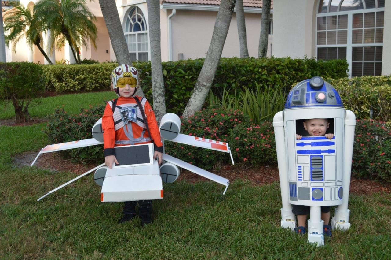 Honorary mention to Jessica L. for this awesome Luke Skywalker in his X-Wing and R2-D2.