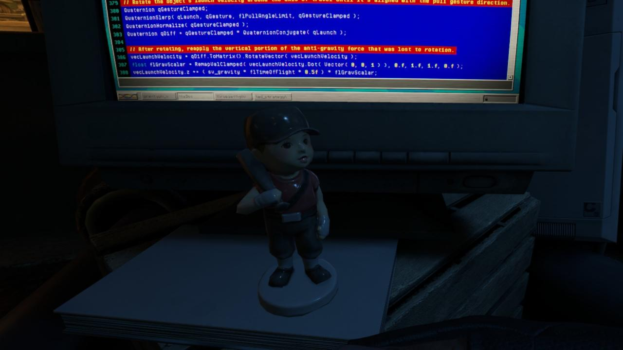 Scout figurine in Russell's lab.