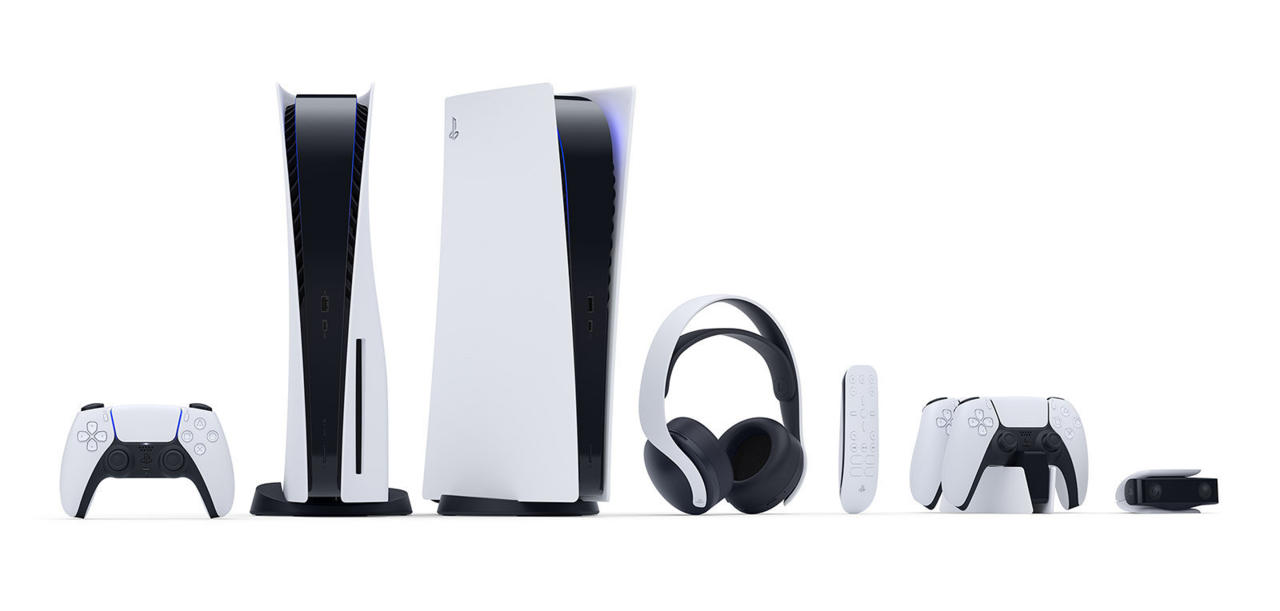 The full suite of PlayStation 5 hardware and accessories from Sony.