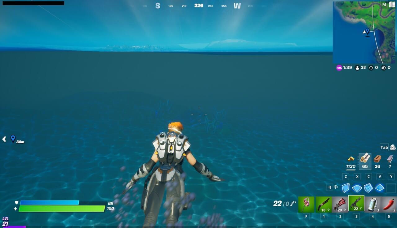 The hidden underwater bunker.