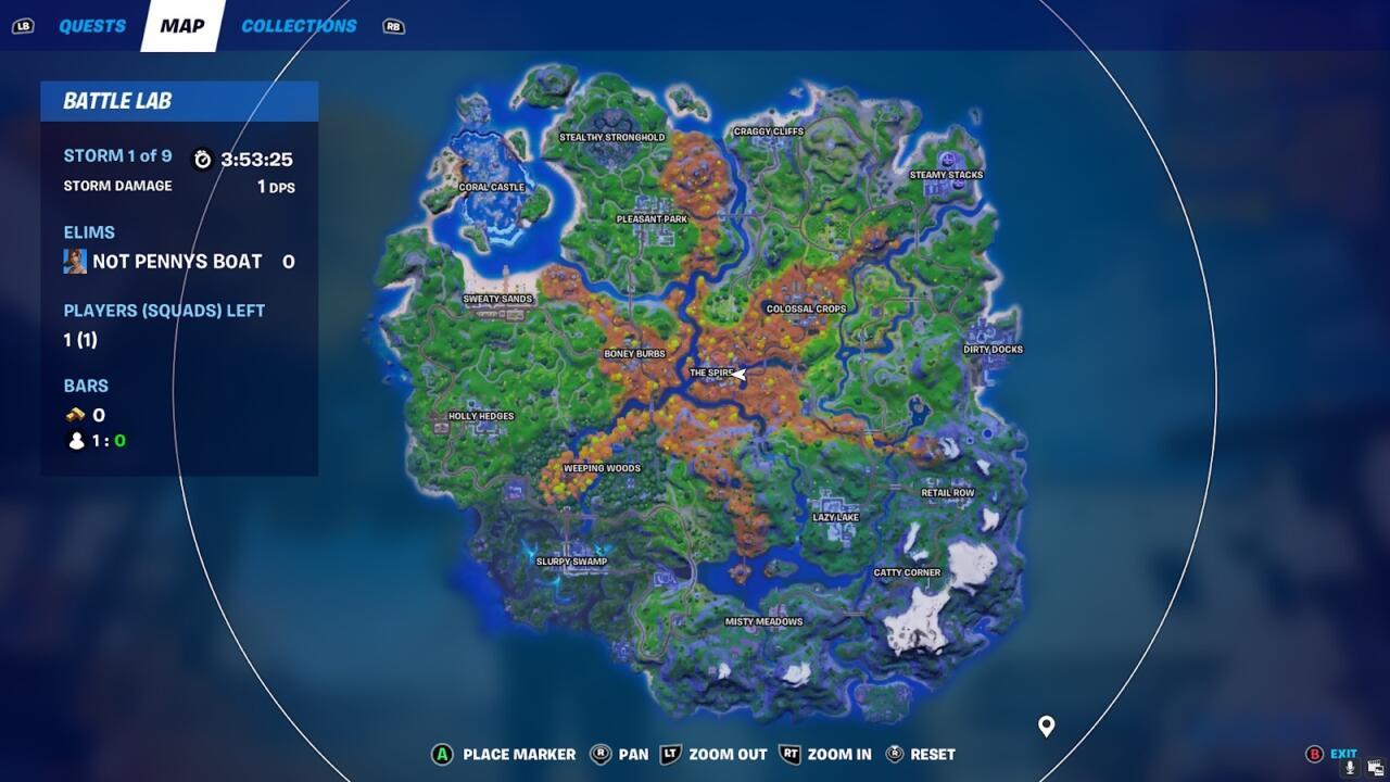 What the new island map looks like in Fortnite Season 6.