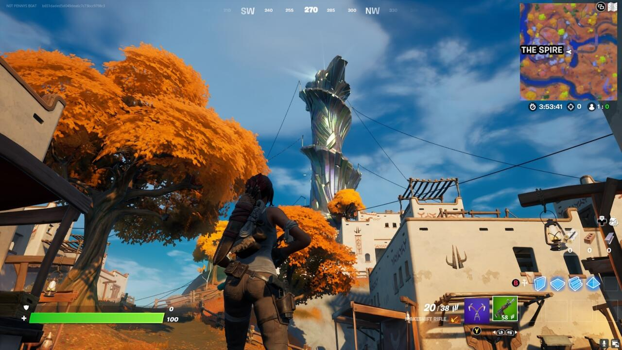The new Spire at the center of the map.