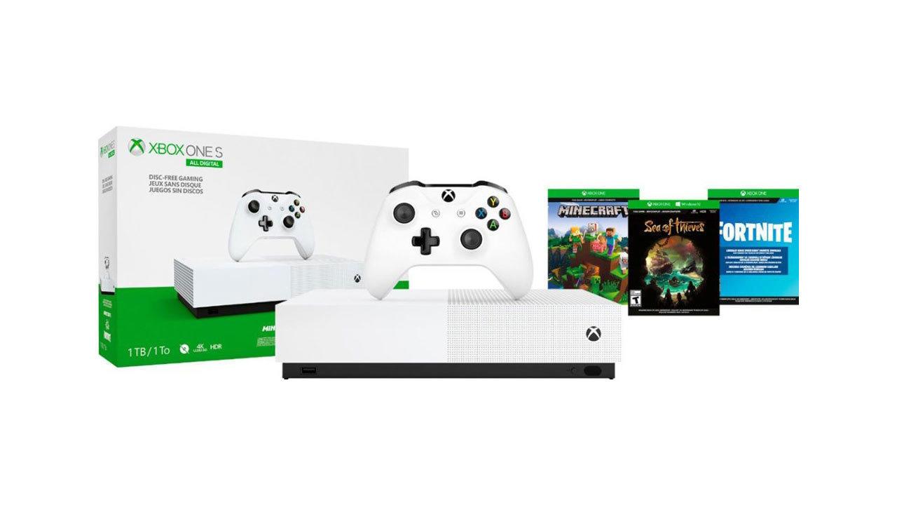 Xbox One S (1TB) All-Digital Edition | $150