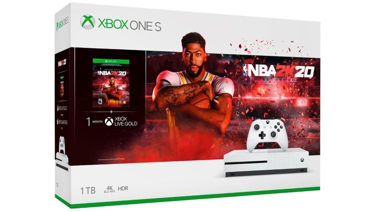 Xbox One S (1TB) with NBA 2K20   $199
