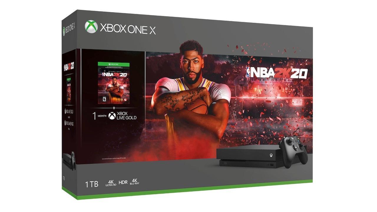 Xbox One X (1TB) with NBA 2K20   $349