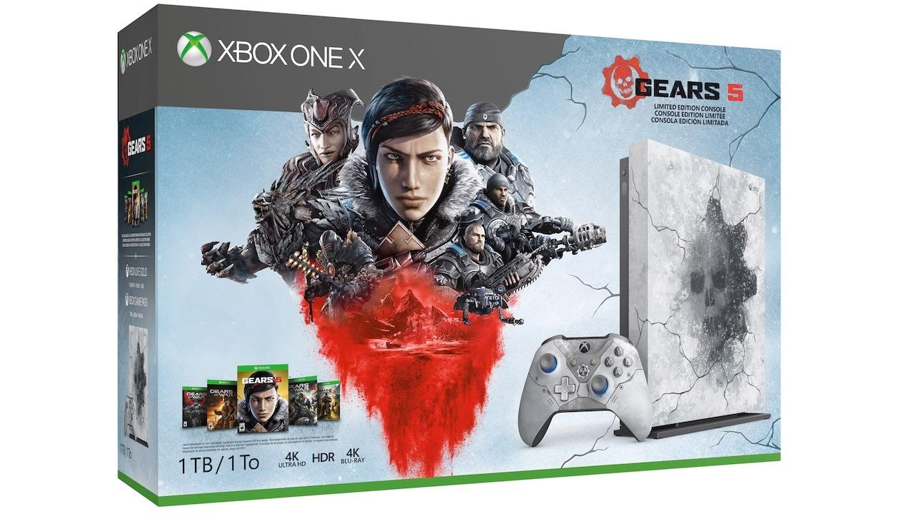 Xbox One X Limited Edition with Gears 1-5 | $349