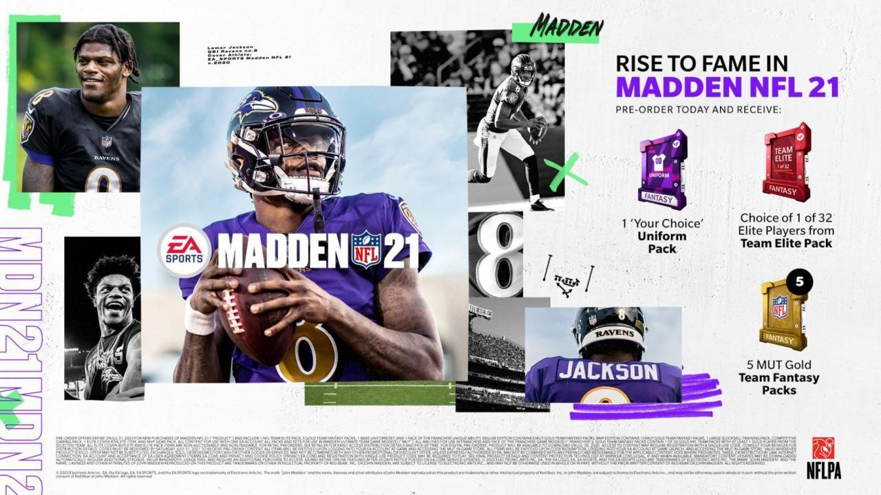 Madden NFL 21 standard edition pre-order bonuses