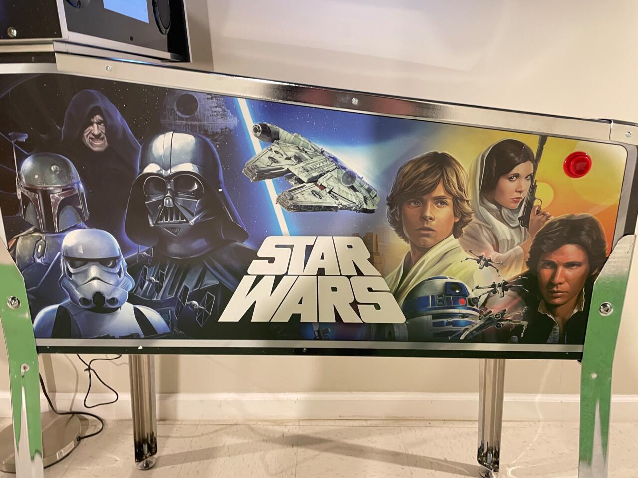 A arte apresenta personagens de Star Wars do passado e do presente.