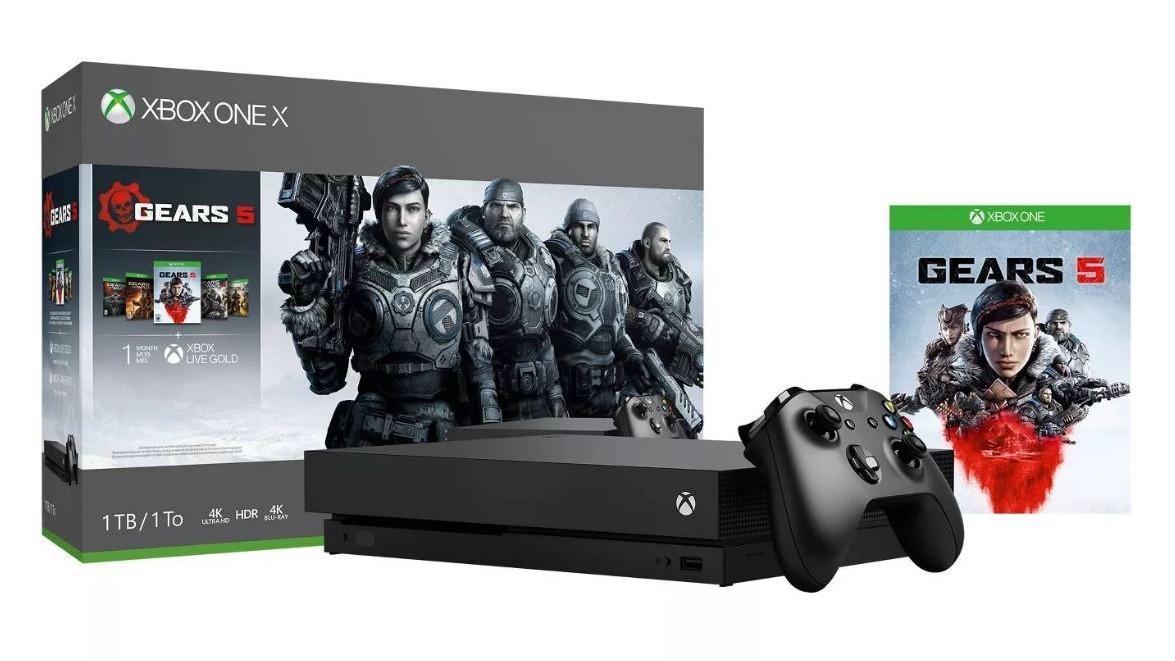 Xbox One X bundle with Gears 1-5 | $350