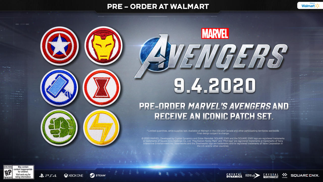Exclusive patch set for Marvel's Avengers