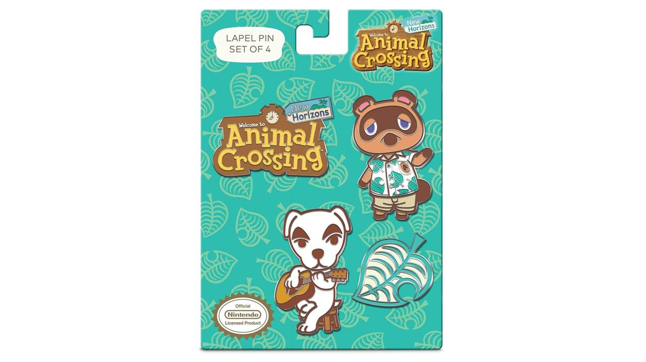 Controller Gear Authentic and Officially Licensed Animal Crossing: New Horizons - Nintendo Lapel Pin Set - 4 Piece