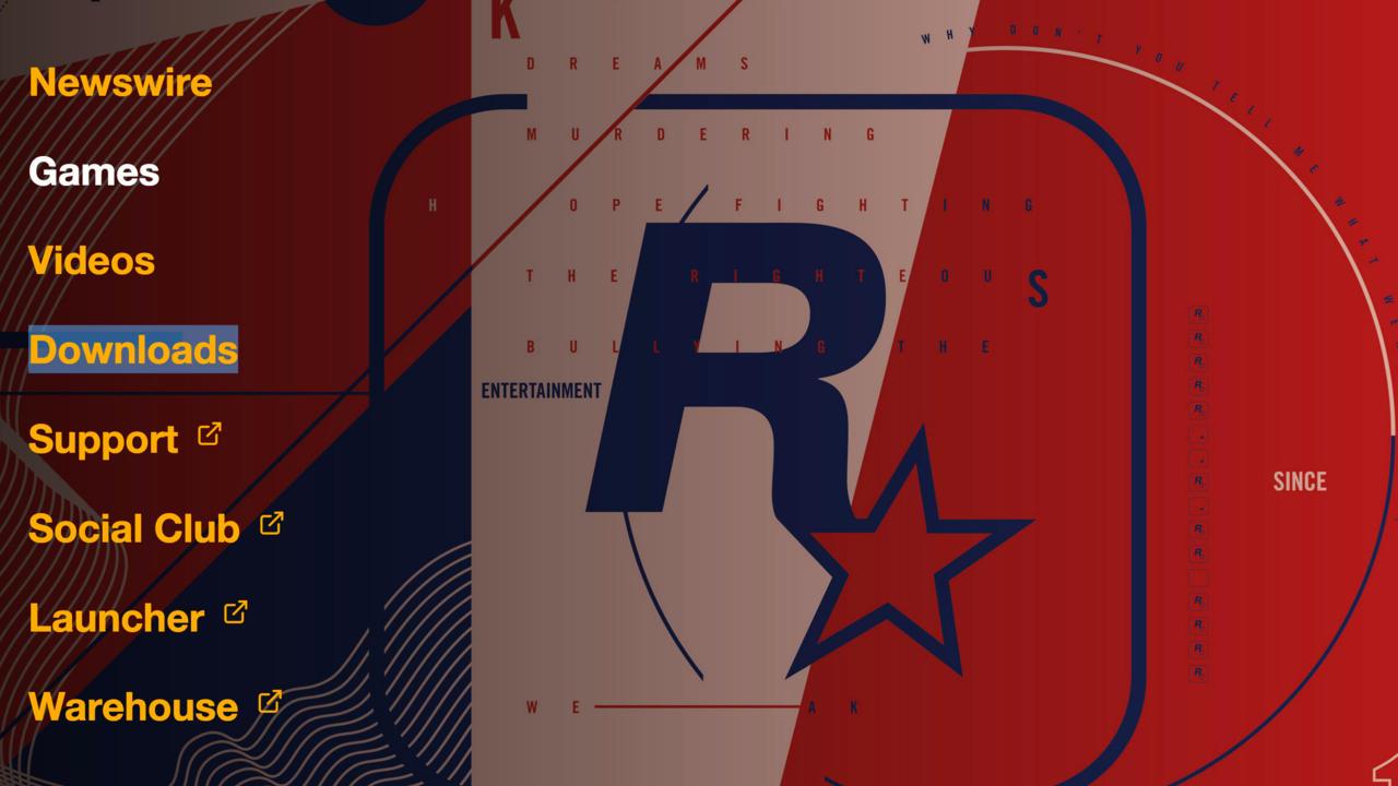Rockstar website's new artwork