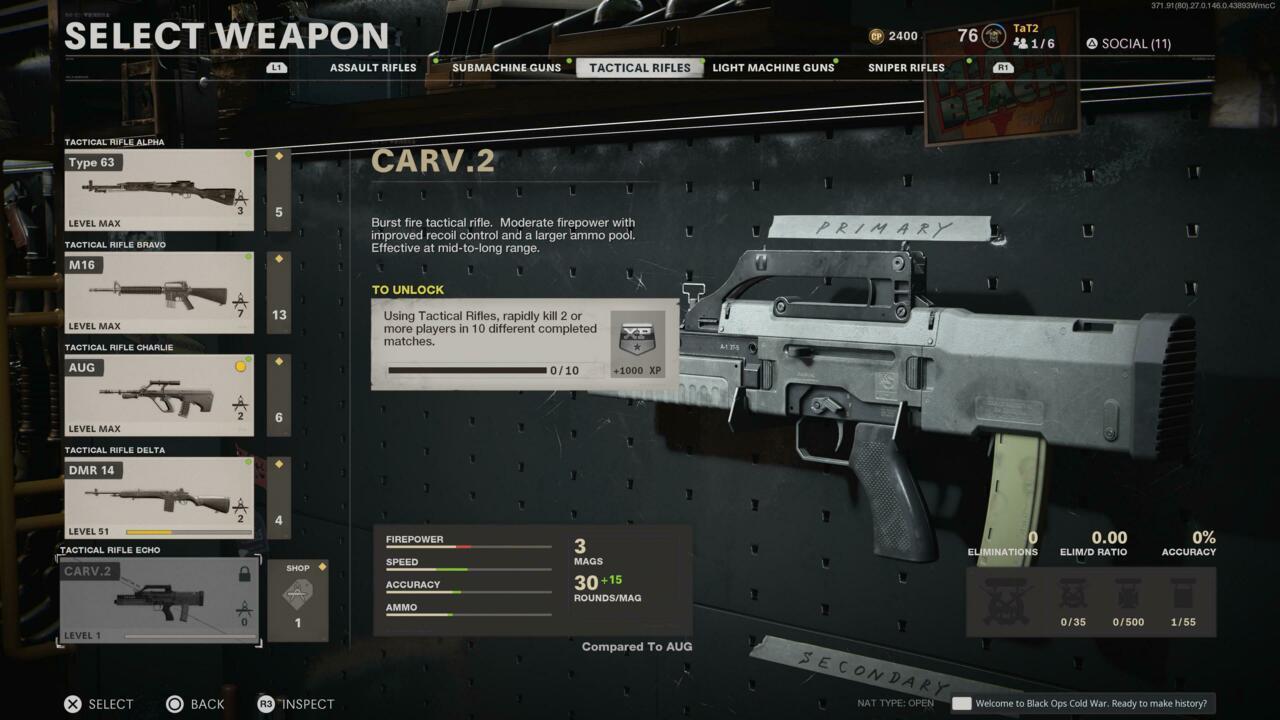 CARV.2 in Black Ops Cold War