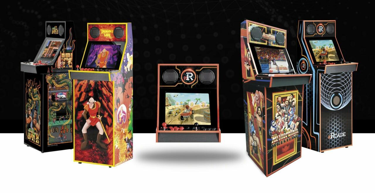 L-R: Black Edition Dragon's Lair, Classic Bartop, Retromania, Classic with Stand