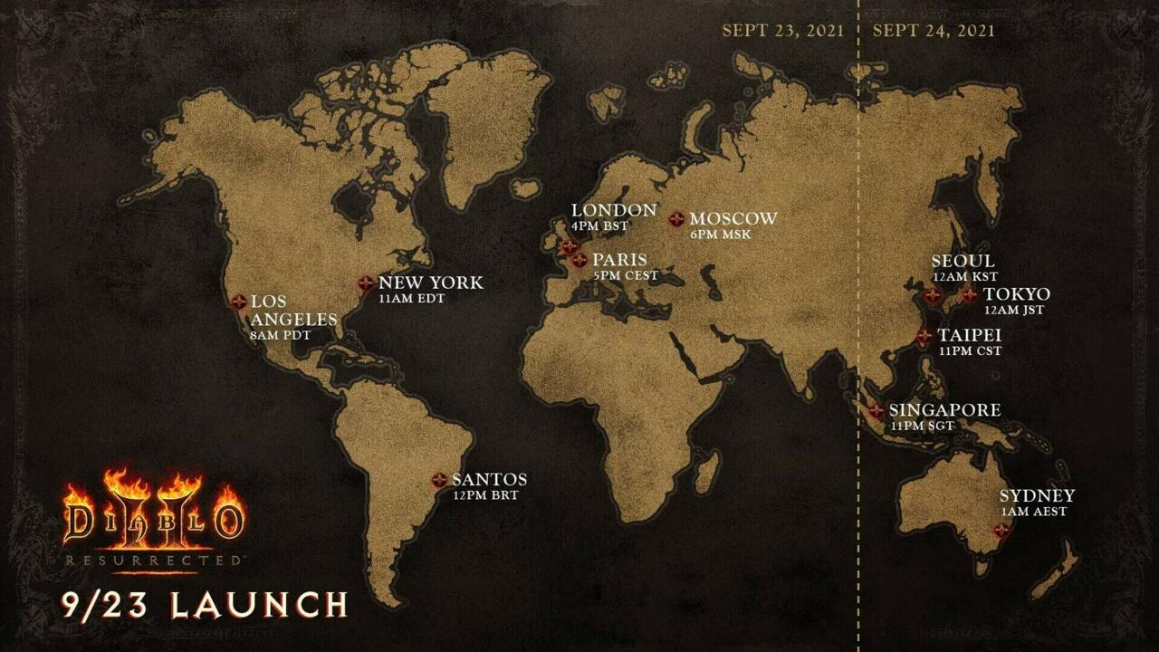Diablo 2: Resurrected Unlock Time Map