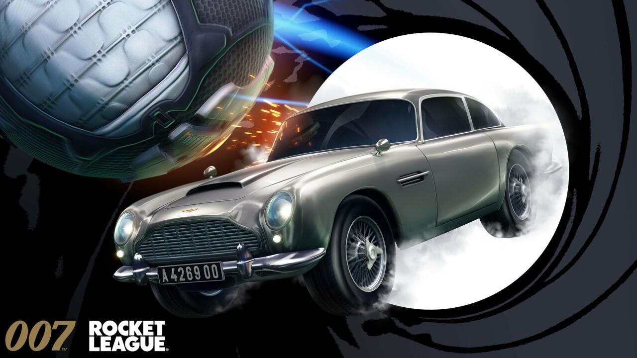 Rocket League's take on the Aston Martin DB5