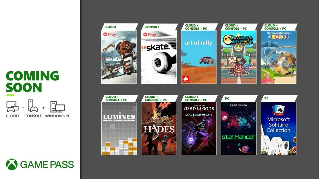 Xbox Game Pass August 2021