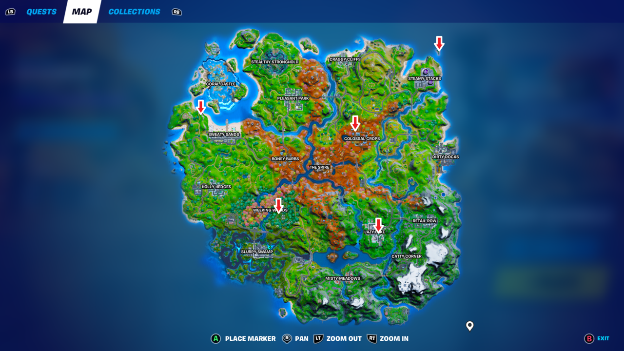 Where to activate a rift in Fortnite.