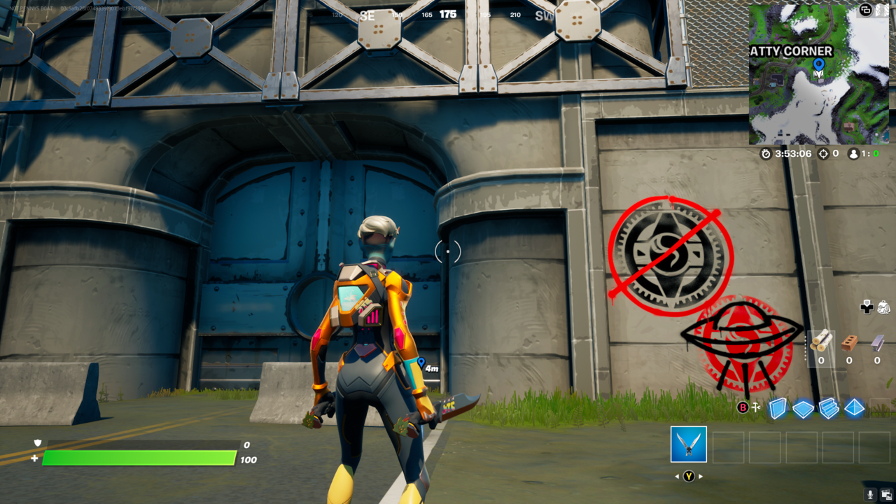 Someone has been tagging over IO markings.