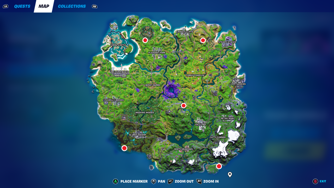 Where to find Fortnite Week 7 Alien Artifacts