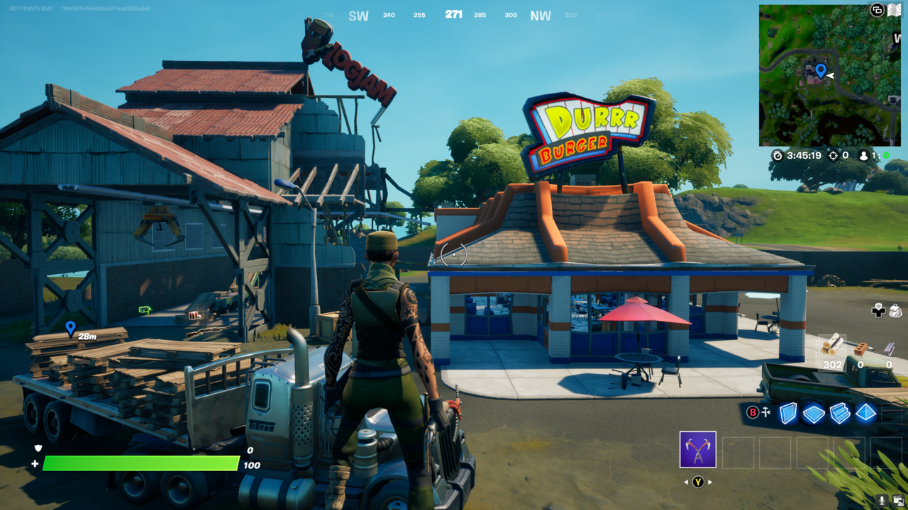 Durrr Burger offers loot, foraged items, a UFO, and is nearby other great locations.