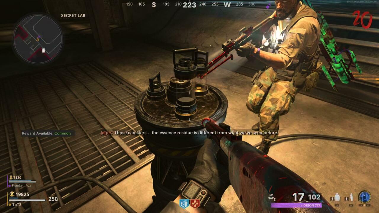 Secret Lab canister pedestal.