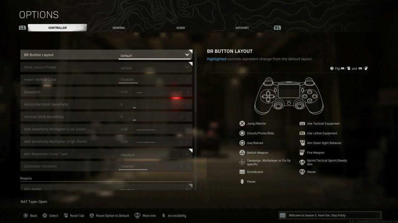 General controller settings