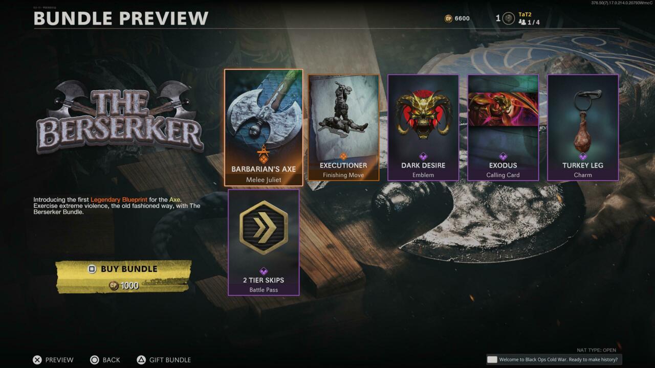 The Berserker shop bundle