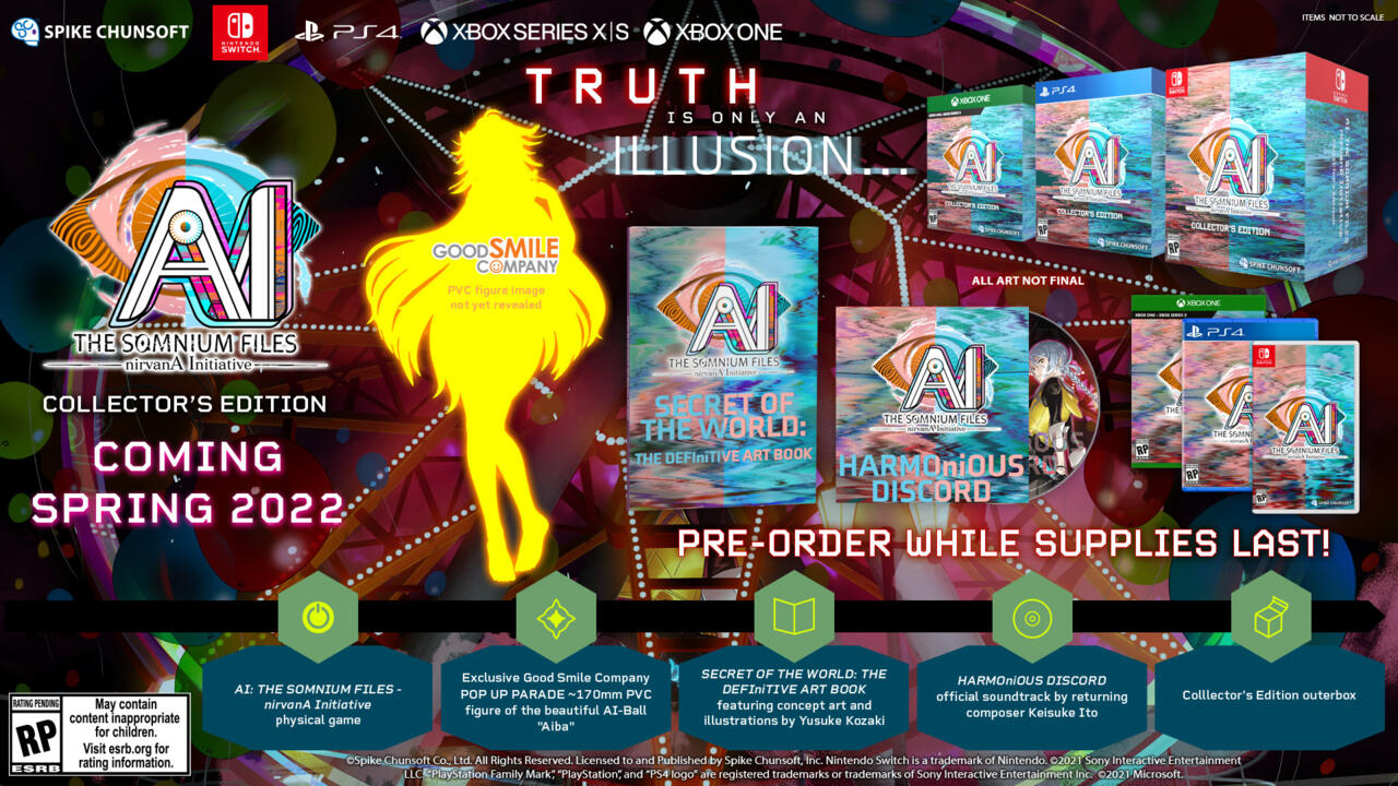 AI: The Somnium Files – nirvanA Initiative Announced For Nintendo Switch, PC, PlayStation, And Xbox