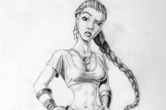 24. Preliminary Sketch of Lara Croft