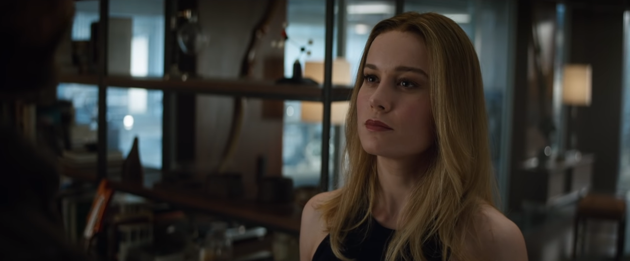 7. Captain Marvel is VERY confident she can defeat Thanos