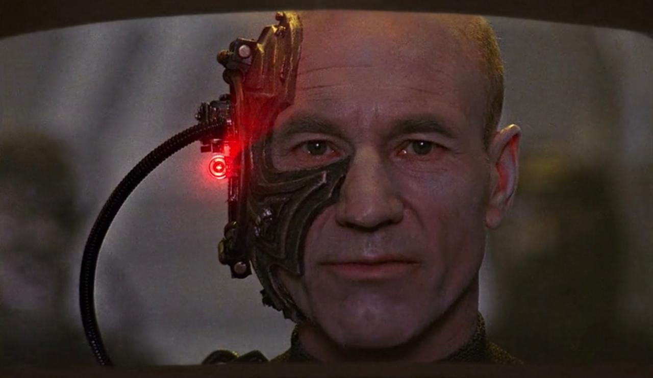 7. Picard was a Borg for an extended period of time?
