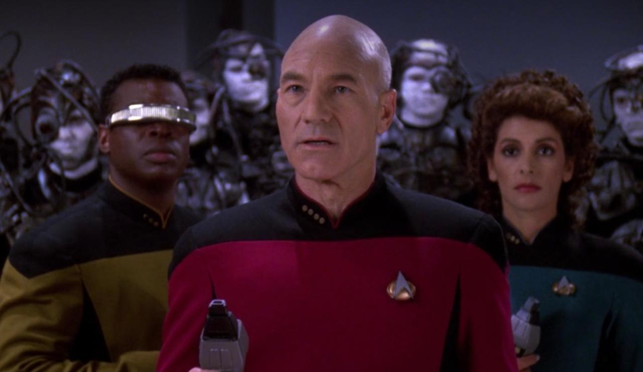 11. Did Picard encounter hostile Borg again during the television series?