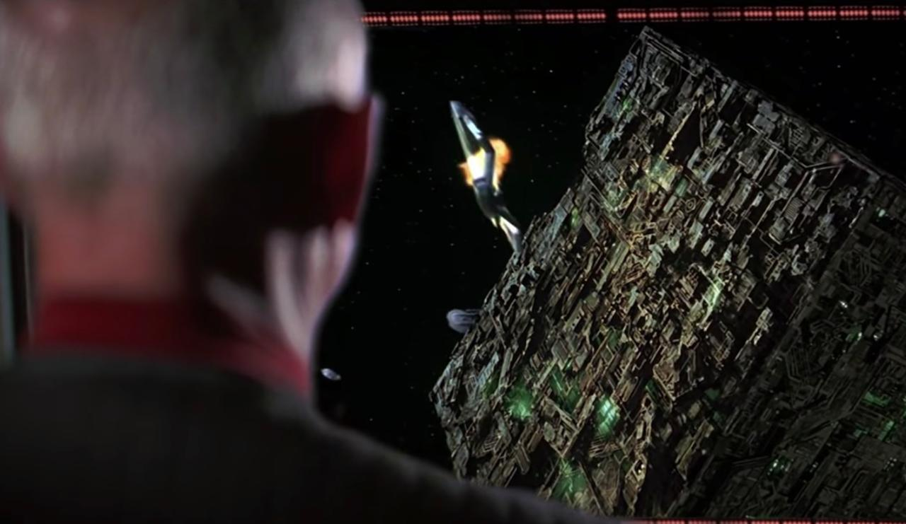 13. How did the Star Trek: First Contact film feature the Borg?