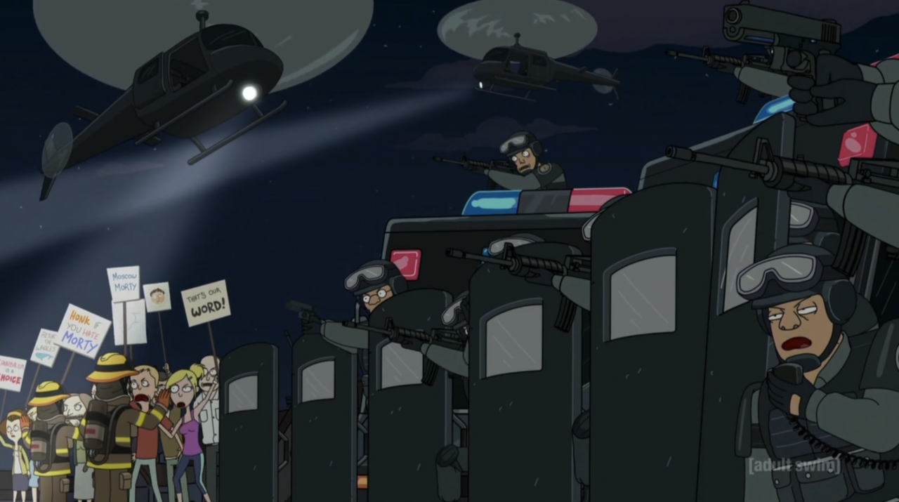 19. Morty Protesters