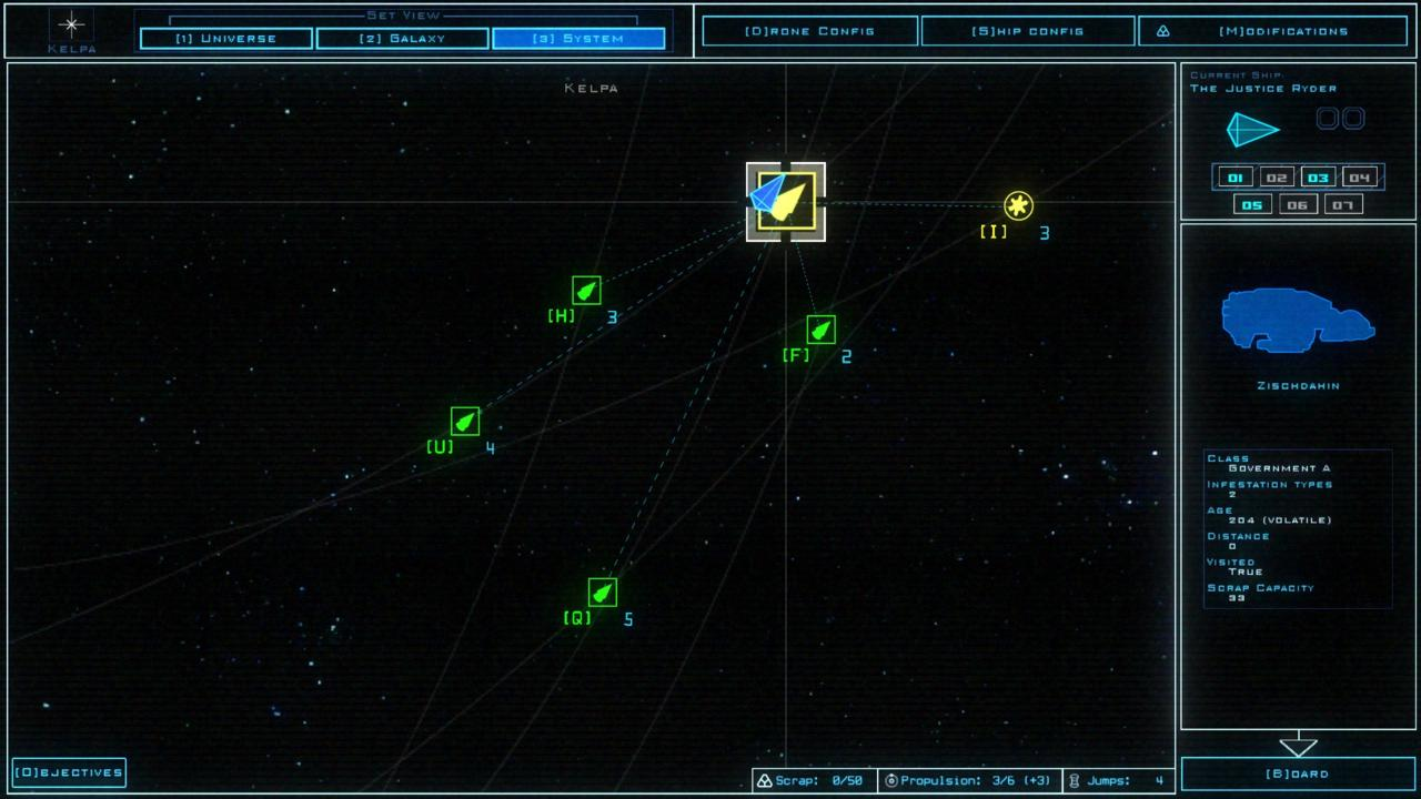System map showing nothing but derelict ships.