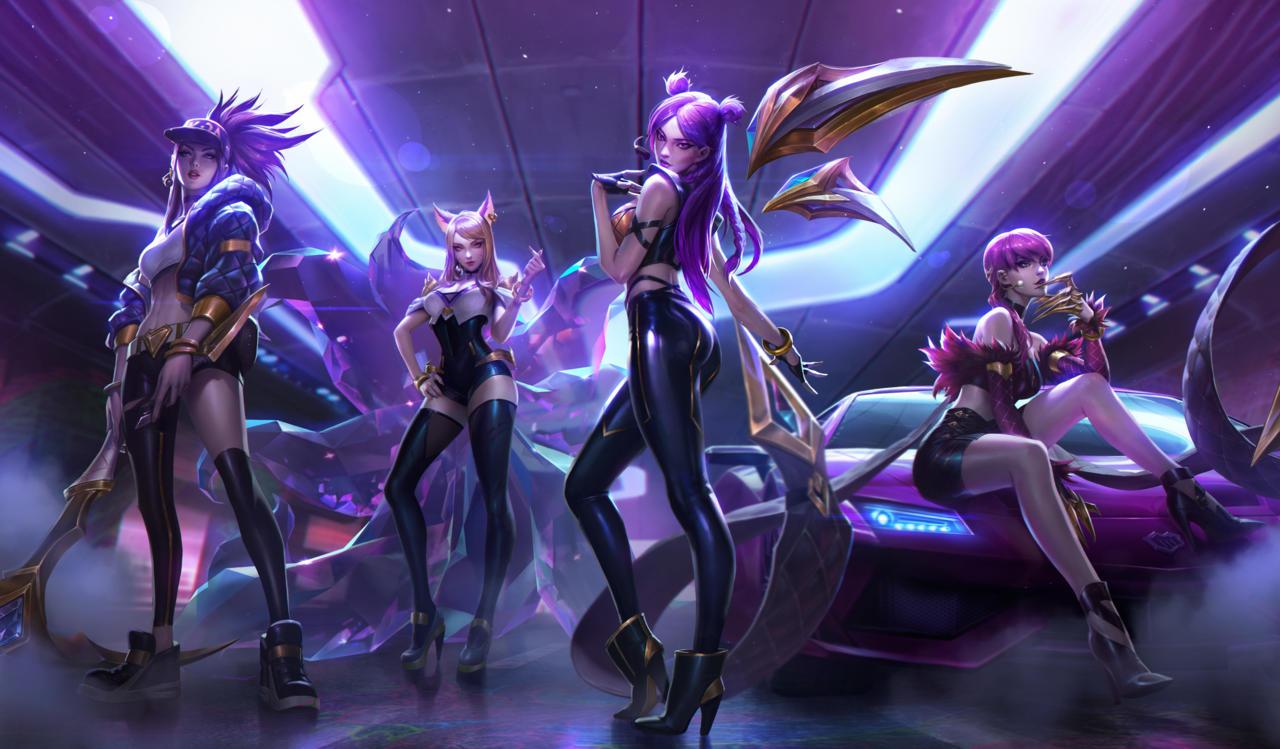 The League of Legends K-pop group, K/DA