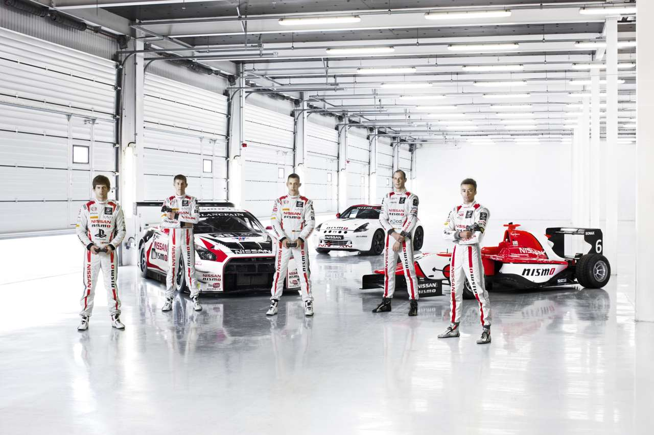 The previous winners of GT Academy.