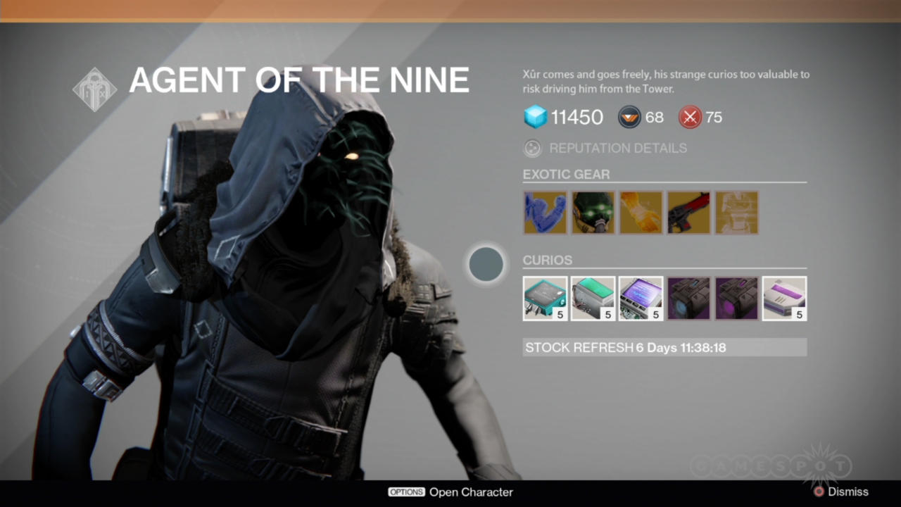Xur is one important dude.