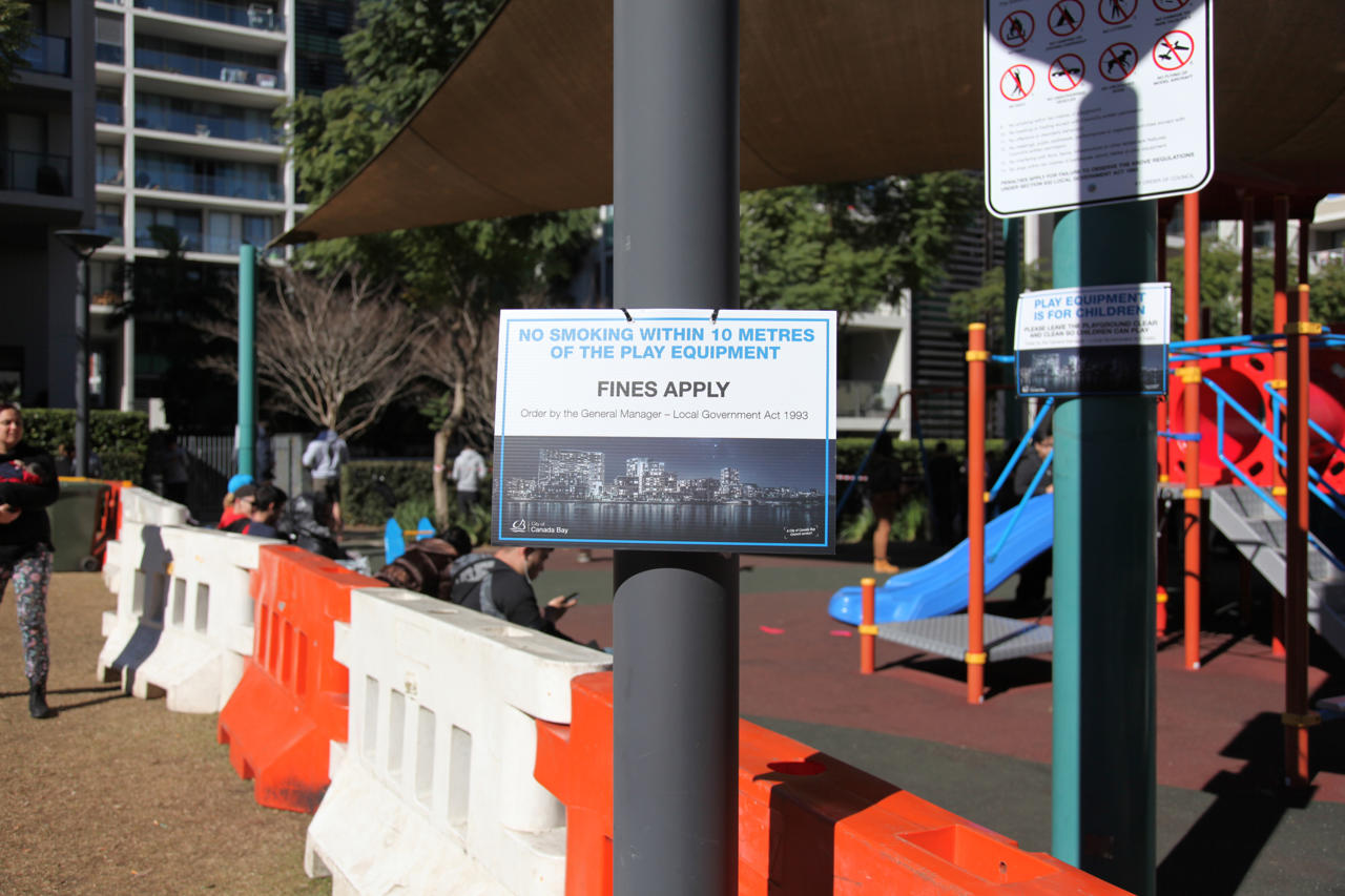 Signs had been installed and barriers placed to help with the crowding.
