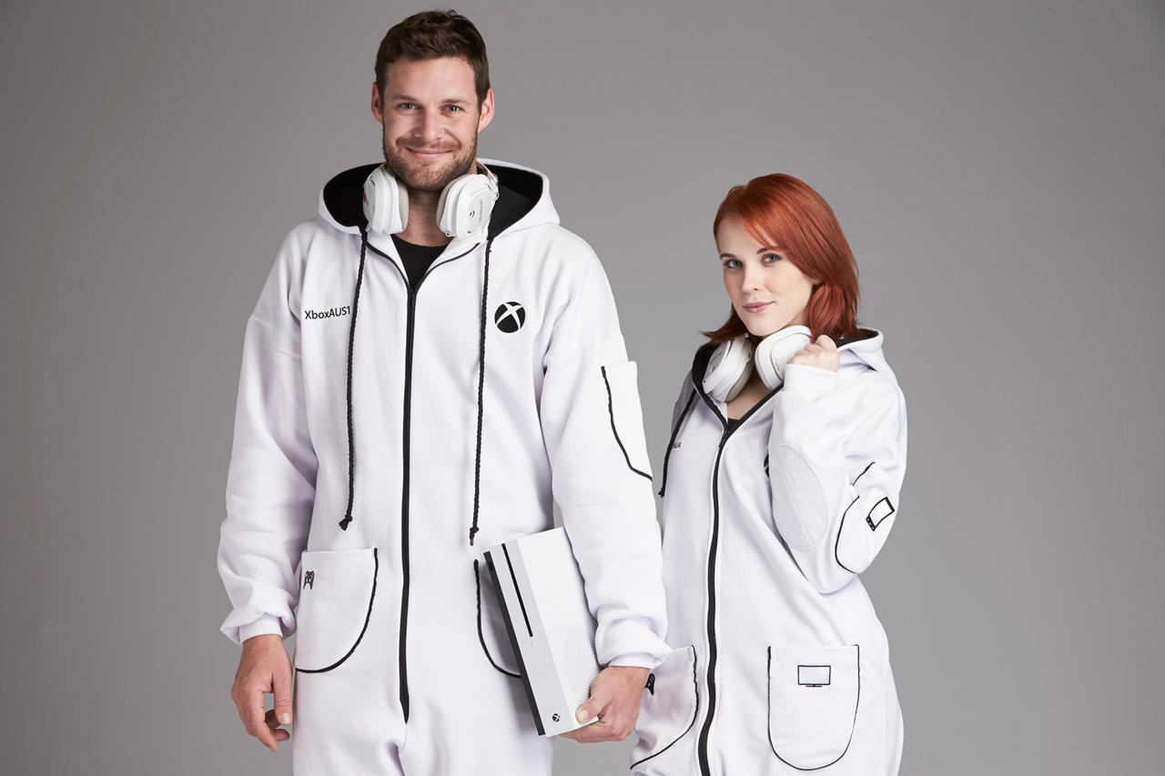 You know you want to see these Xbox Onesies up close.