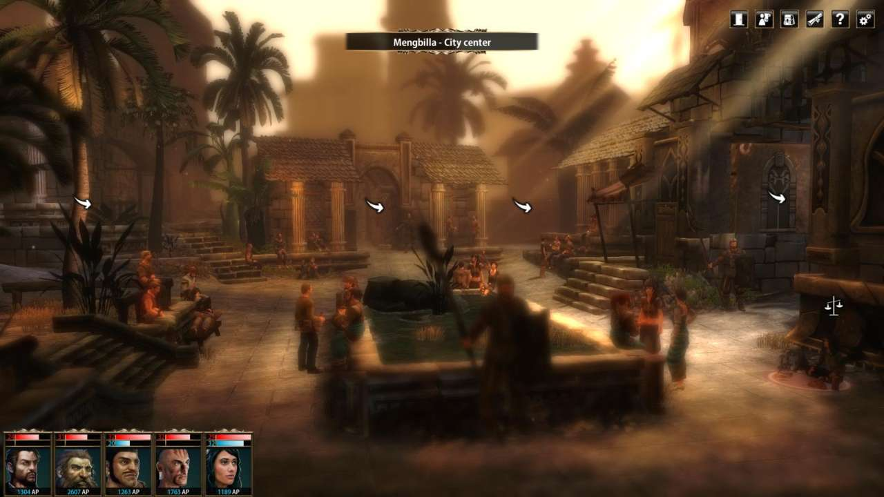 Blackguards is at its most attractive in the screens representing cities.