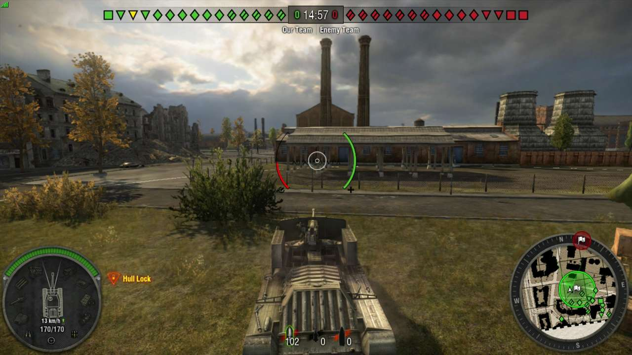World of Tanks isn't much of a looker, but that's OK: you're gonna blow everything up anyway.