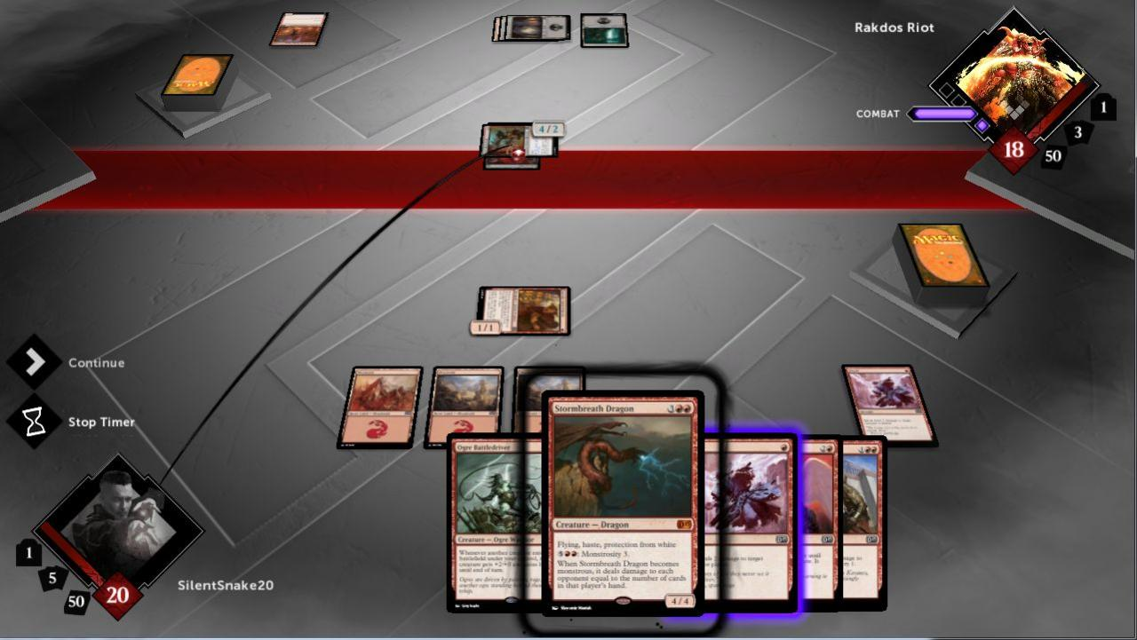 The game interface point of view makes it look like you're playing at a real table.