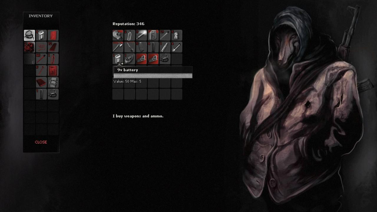 A werewolf arms dealer is one of the least weird characters that you encounter in Darkwood.