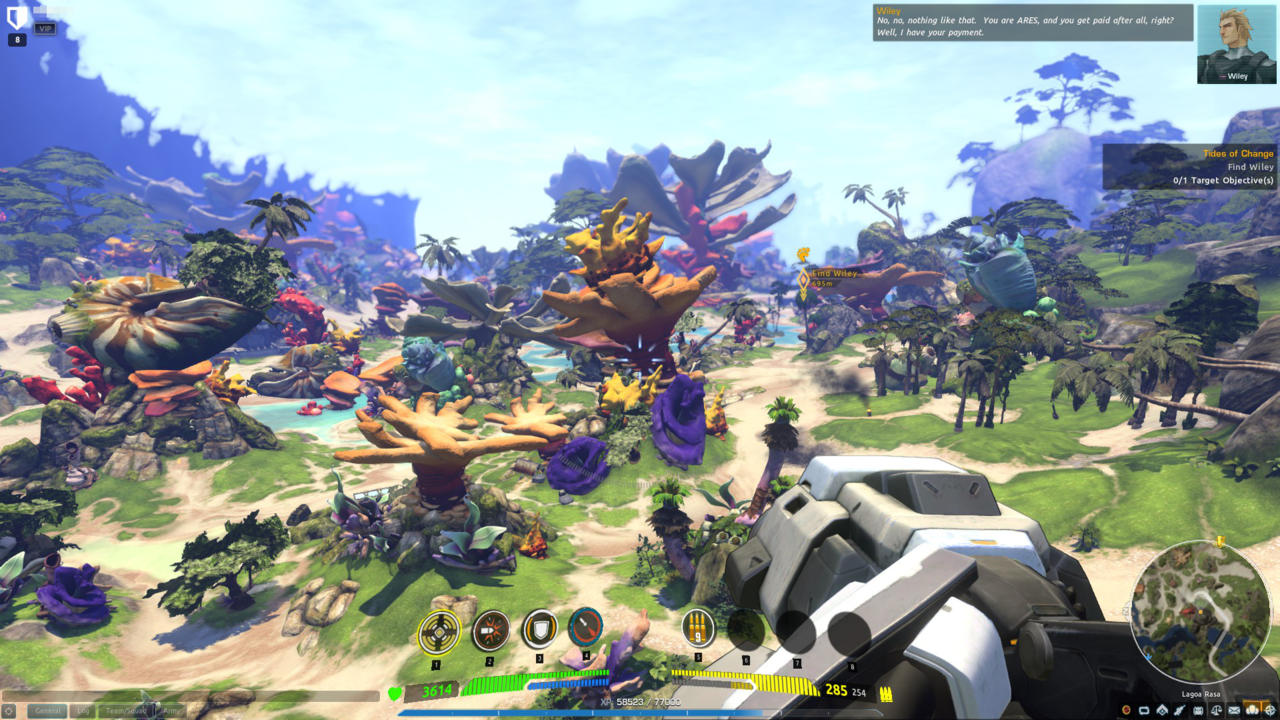 Firefall's colorful environment manages to override most fatigue with its lush battlefields.