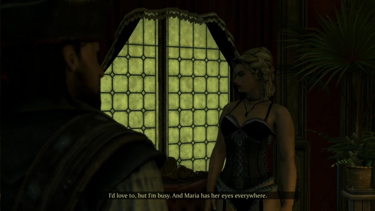 Maria sounds more like a creepy eye-monster than a madame, based on this line.