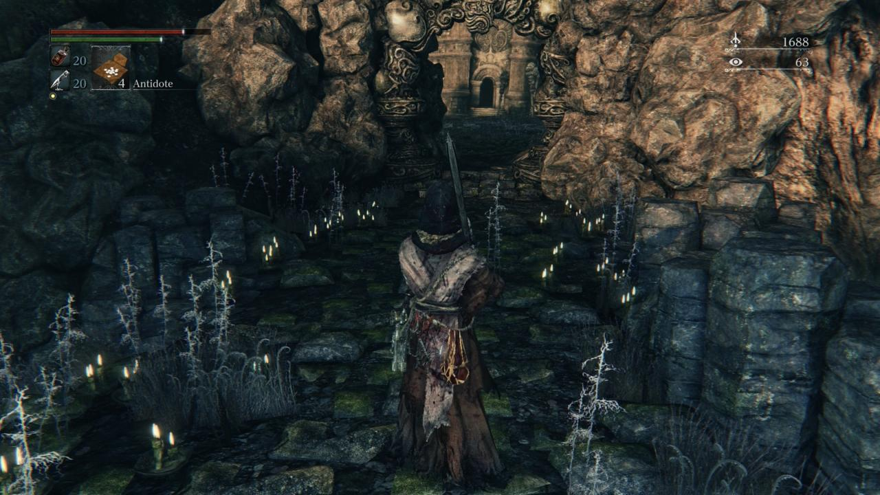 What kind of death awaits on the other side of this archway?