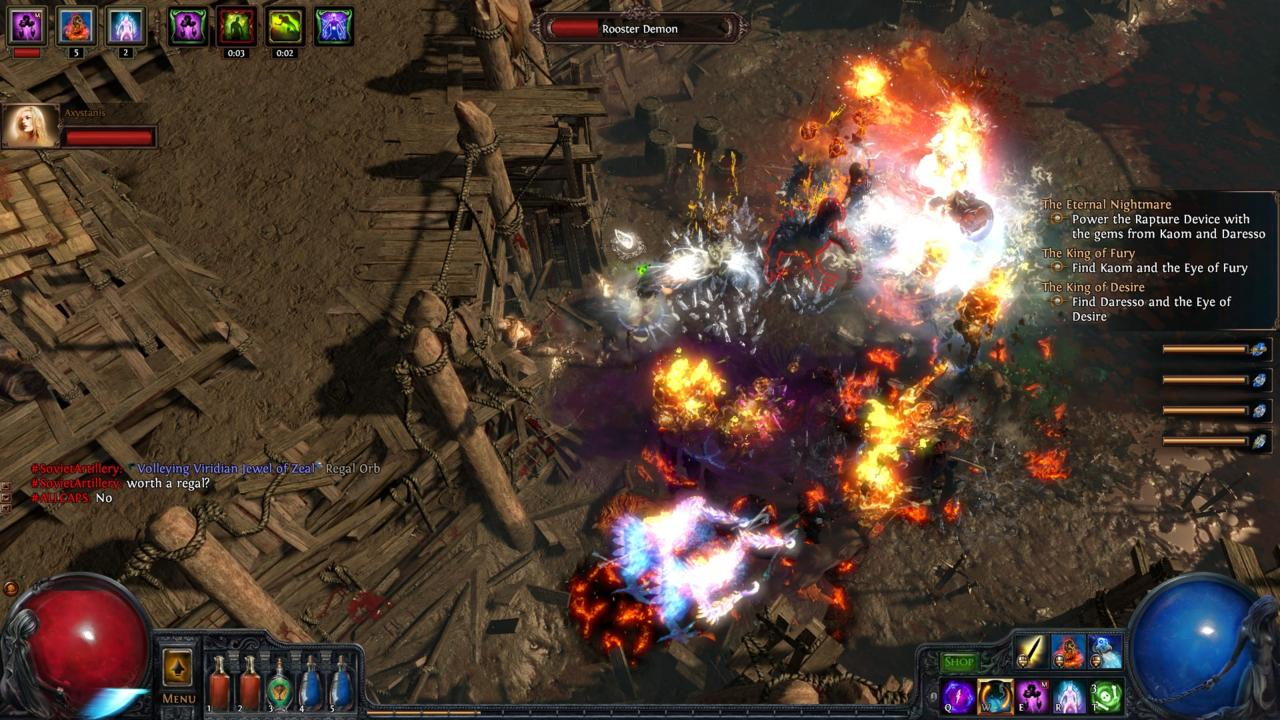 The Path of Exile games utilize the same color-coding system for loot as Diablo, furthering the spread of that game's influence.