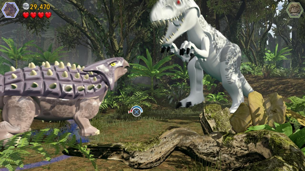 One-on-one dinosaur battles use quick-time events, but the cinematic payoff is one of the game's high points.